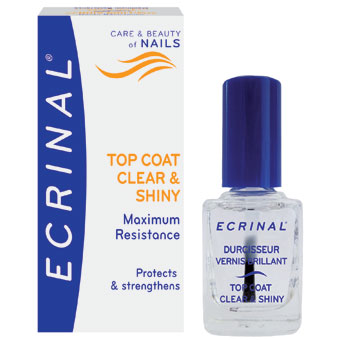 Ecrinal Clear and Shiny Strengthening Topcoat