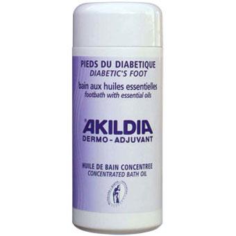 AKILDIA Huile de bain aux huiles essentielles pour pieds diabétiques