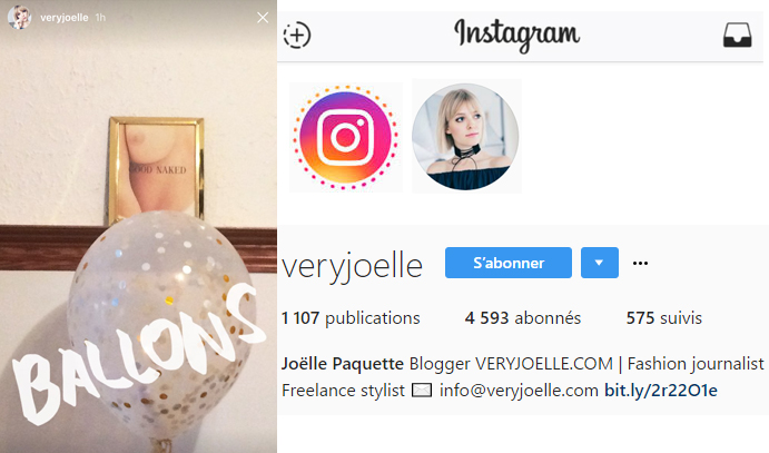 Coup dEclat Instagram Very Joelle