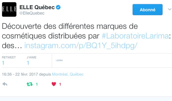 22 fevrier 2017 Elle Quebec Twitter