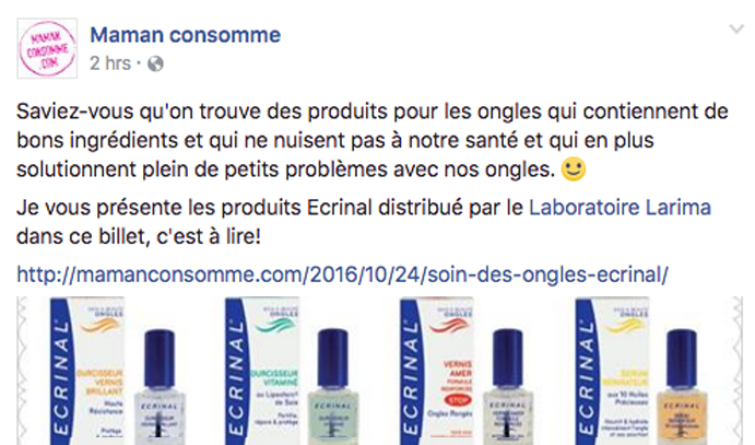 25 oct 2016 Maman Consomme Facebook