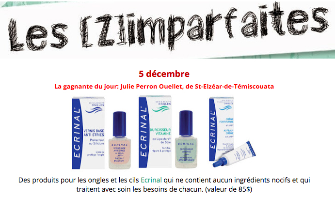 5 dec 2016 Les zimparfaites Ecrinal Ongles