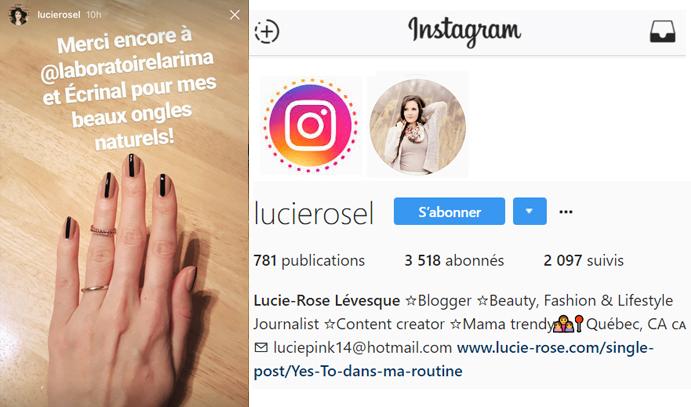 7 dec 2016 Lucie-Rose Levesque Instagram Stories2