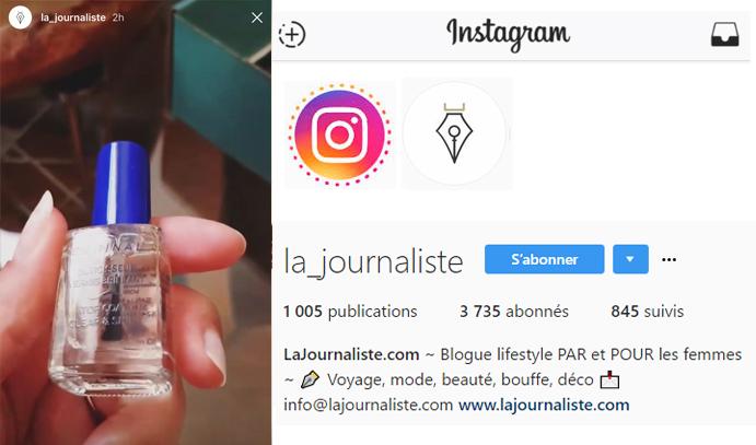 7 oct 2016 La Journaliste Instagram Stories