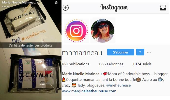 7 oct 2016 Marie Noelle Marineau Instagram Stories-