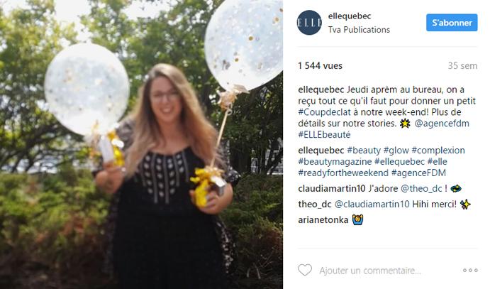 Coup dEclat Instagram Elle Québec