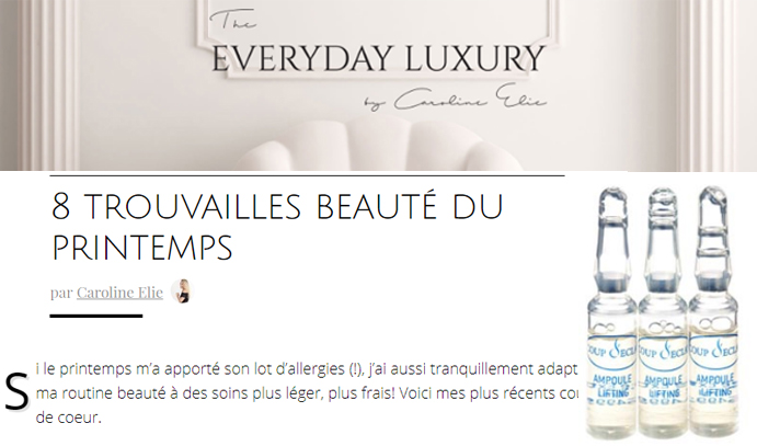 Coup d'Eclat Ampoule The Everyday Luxury Blog Beaute 12 juin 2017