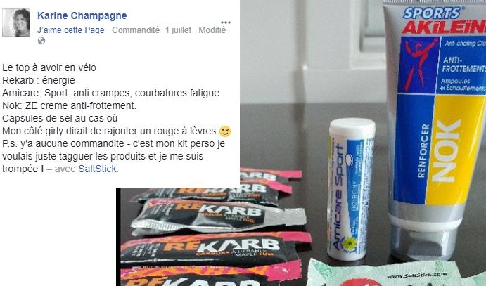 Sports Akileine Nok Karine Champagne Facebook 1 juillet 2017