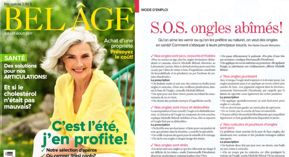 juillet - aout 2017 Bel Age Ecrinal Ongle
