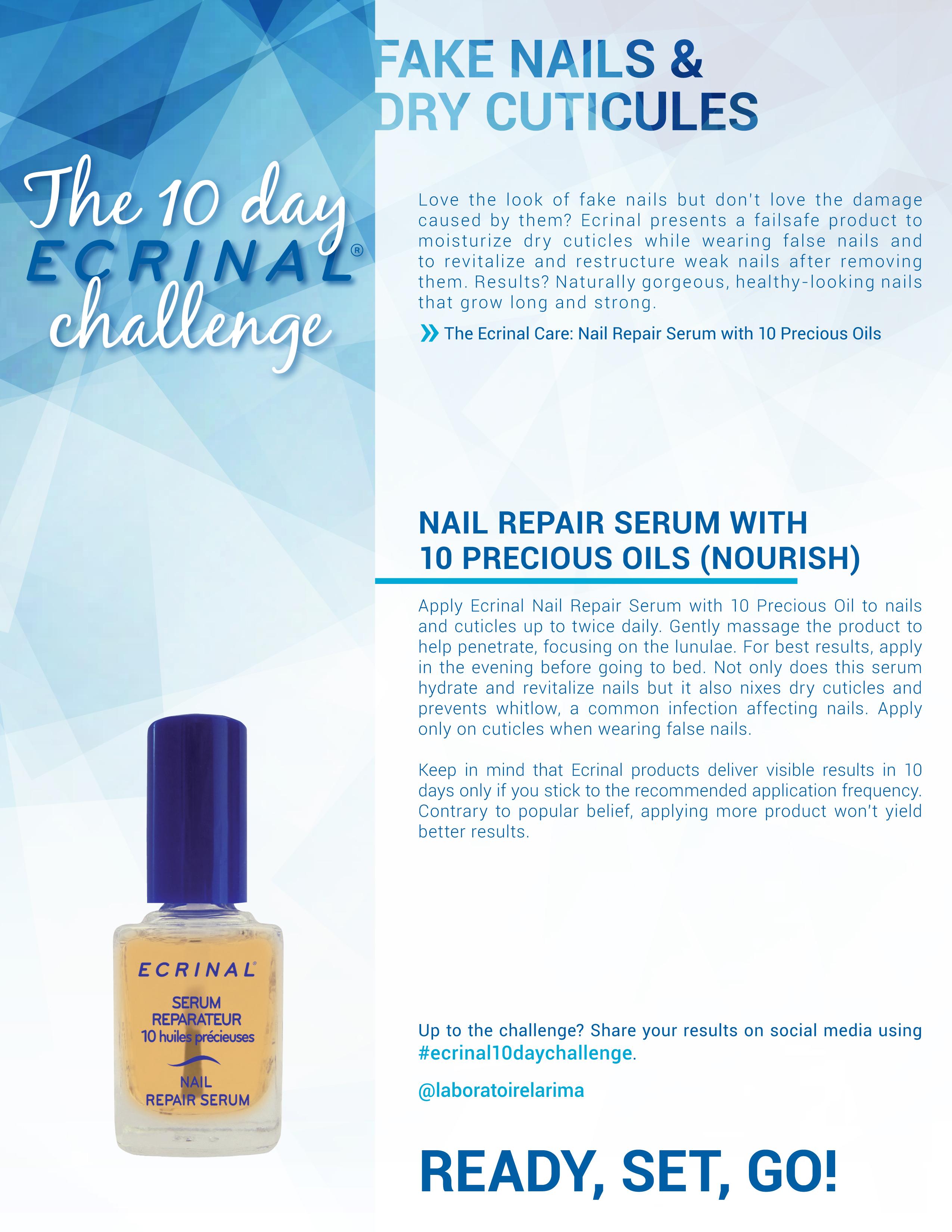 Ecrinal 10 days Challenge False Nails Dry Cuticles