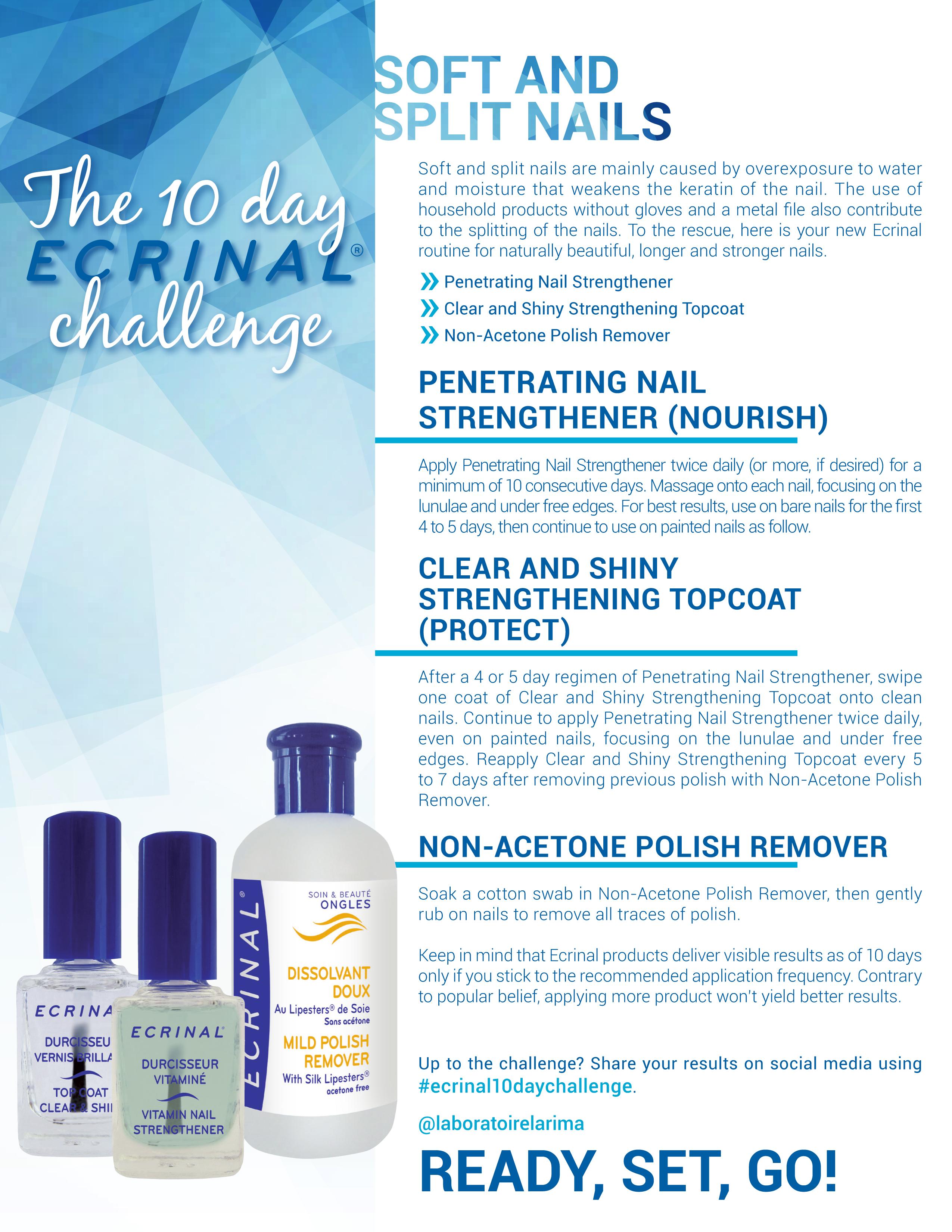 Ecrinal 10 Days Challenge Soft Split Nails
