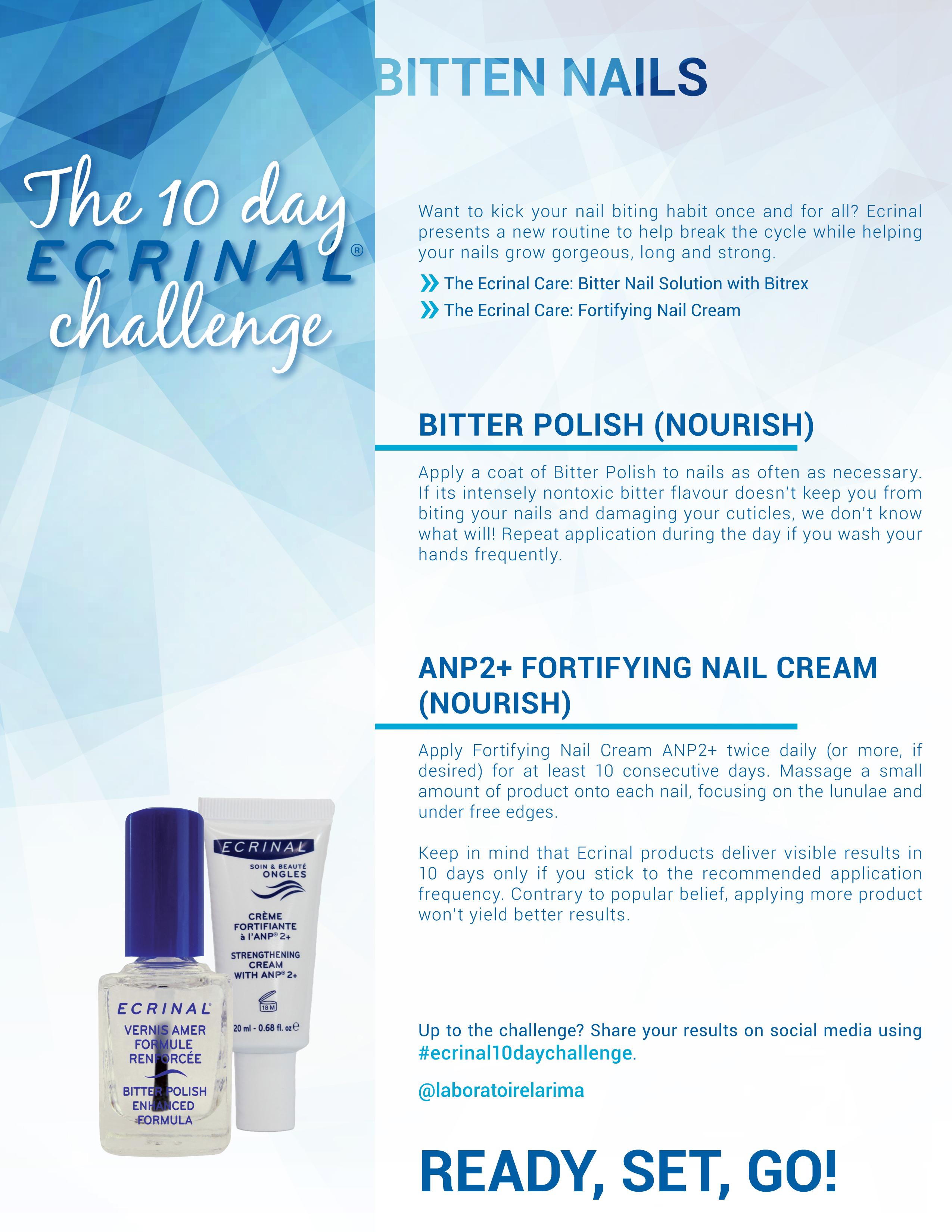 Ecrinal 10 Days Challenge Bitten Nails