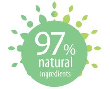 97% natural ingredients